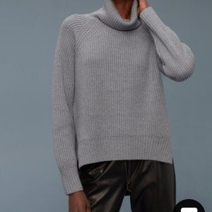 Aritzia Wilfred Free Ribbed Turtleneck Lin Sweater